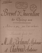 Brevet Belmont Chaboud carburation motoriste