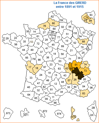 naissances Girerd de 1891 à 1915